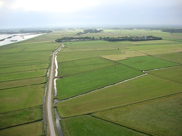 Dronefoto Arkemheense polder Rini Janssen