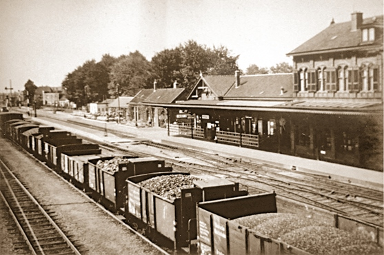 Winterswijk Rond 1930 Kolenwagens Rangeerterrein Transit Oost