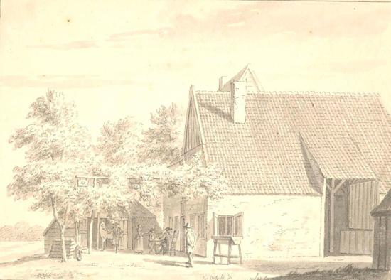 griezeveensepad-Herberg De Roskam- Cornelis Pronck 1729