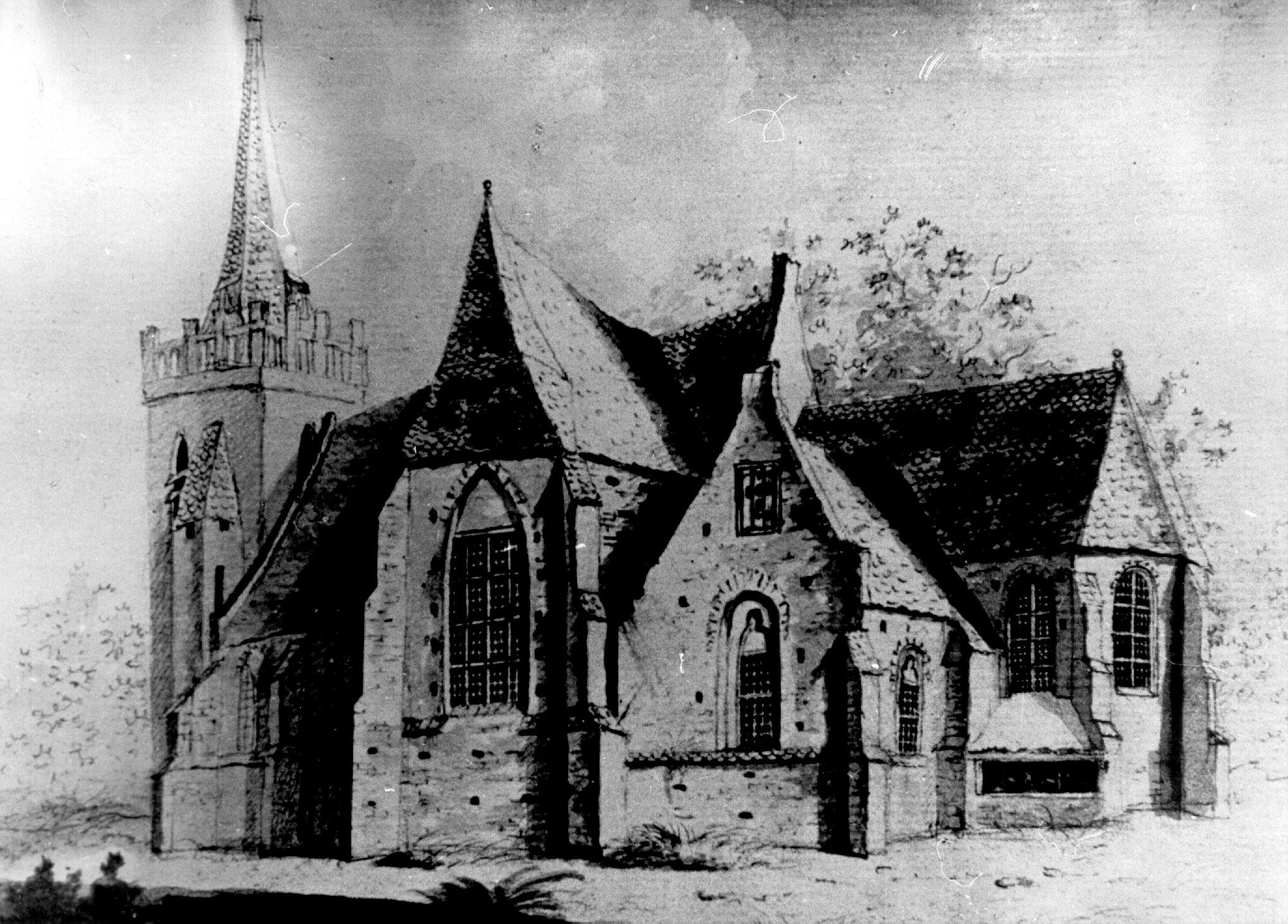 Opheusden De Kerk Te Hoesden Voor 1616 Rijksdienst Monumentenzorg Zeist