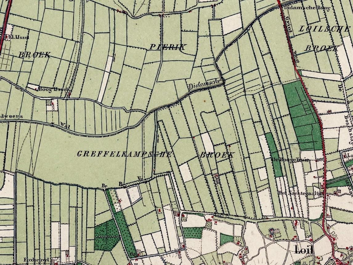 Topografische Kaart Broek 1900